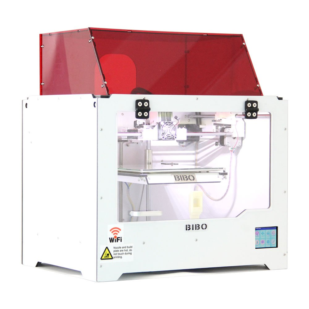 BIBO 3D Assembled Dual Extruder 3D Printer w/ Color Touch