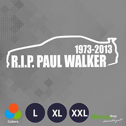 Decus R.I.P. Paul Walker//Pegatinas OEM JDM Style Pegatinas ...