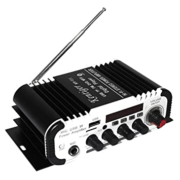 Lorjoy Estéreo de 2 Canales Kentiger HI-FI Bluetooth Car Audio Amplificador de Potencia de