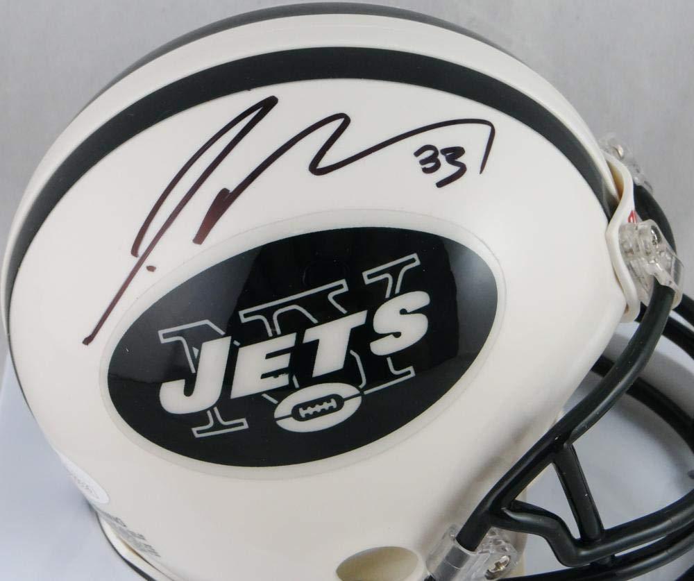 Jamal Adams Autographed NY Jets Mini Helmet JSA Witness Auth Black