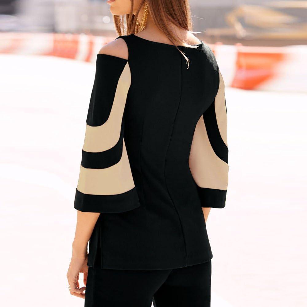 OrchidAmor Women Cold Shoulder Long Sleeve Sweatshirt Pullover Tops Blouse Shirt Black