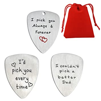 Púa de guitarra para hombre, 3 piezas, regalo para el día ...