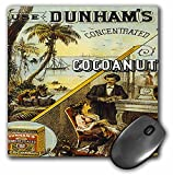 BLN Vintage Trade Cards Ad Art Reproductions - Dunhams Concentrated Cocoanut Ocean Scene and Couple by Fireplace - MousePad (mp_180212_1)