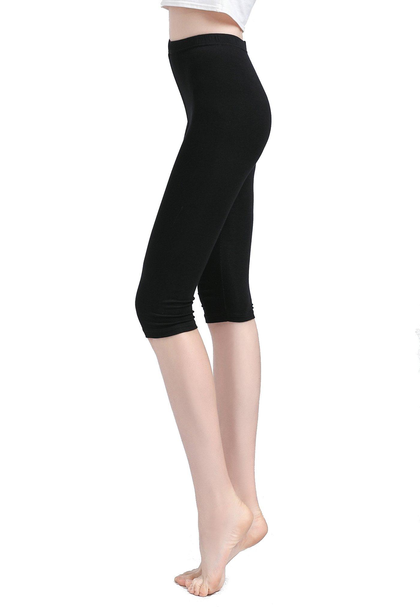 Vinconie Women Activewear Capris Stretchy Exercises Sexy Workout Leggings Soft by Vinconie (Image #2)