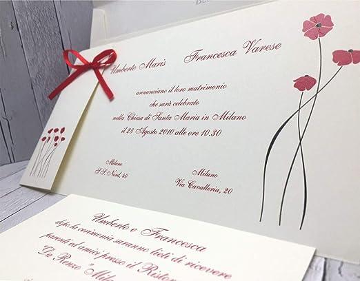Partecipazioni Matrimonio Varese.Set Partecipazioni Nozze Personalizzate Inviti Matrimonio Buonanno