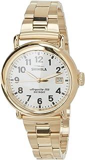 Shinola Womens Runwell S0120001105 Gold Stainless-Steel Quartz Fashion Watch