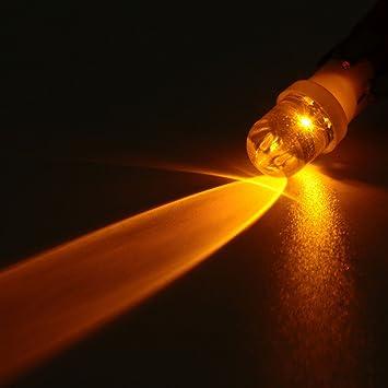 MASUNN 12V T10 W5W 501 Led Coche Señal Intermitente Luces Laterales Bombilla - Amarillo: Amazon.es: Hogar