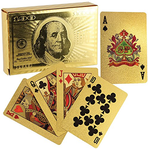 Oliasports Gold Foil Plated Playing Cards