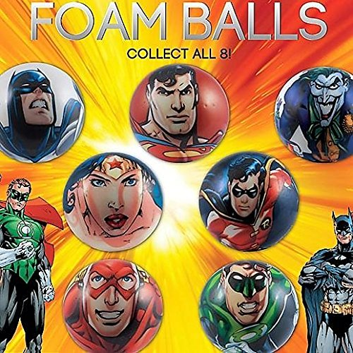 DC Comics Justice League Superhero Figure Soft Foam Ball Toys Collection of 12 -