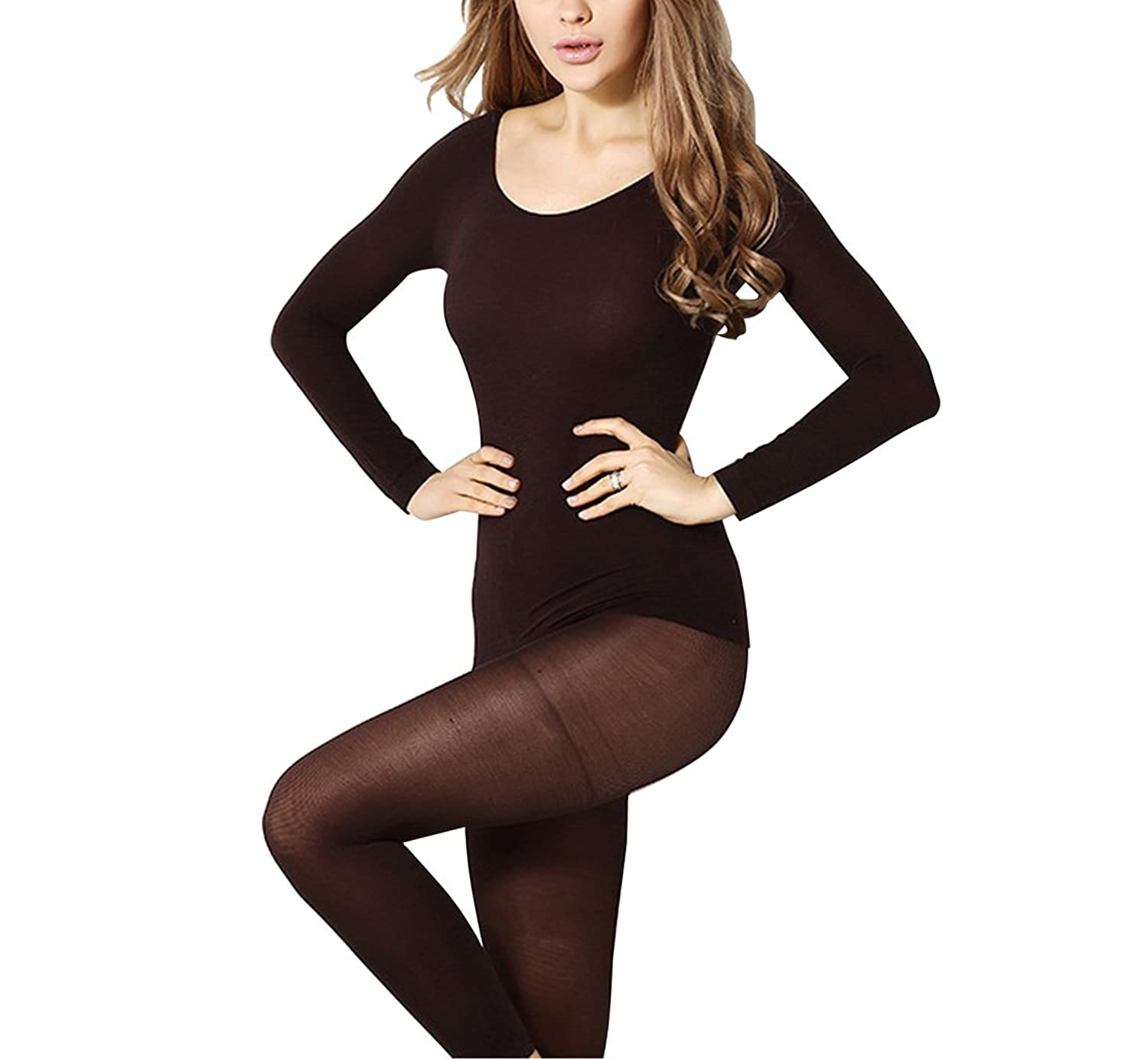 Women's Thermal Underwear Union Suits Inexpensive Ultrathin Top & Bottom