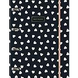 Caderno Argolado Cartonado Universitário com Elástico, Tilibra, West Village, 230472, 20x27.5cm, Preto, 80 Folhas