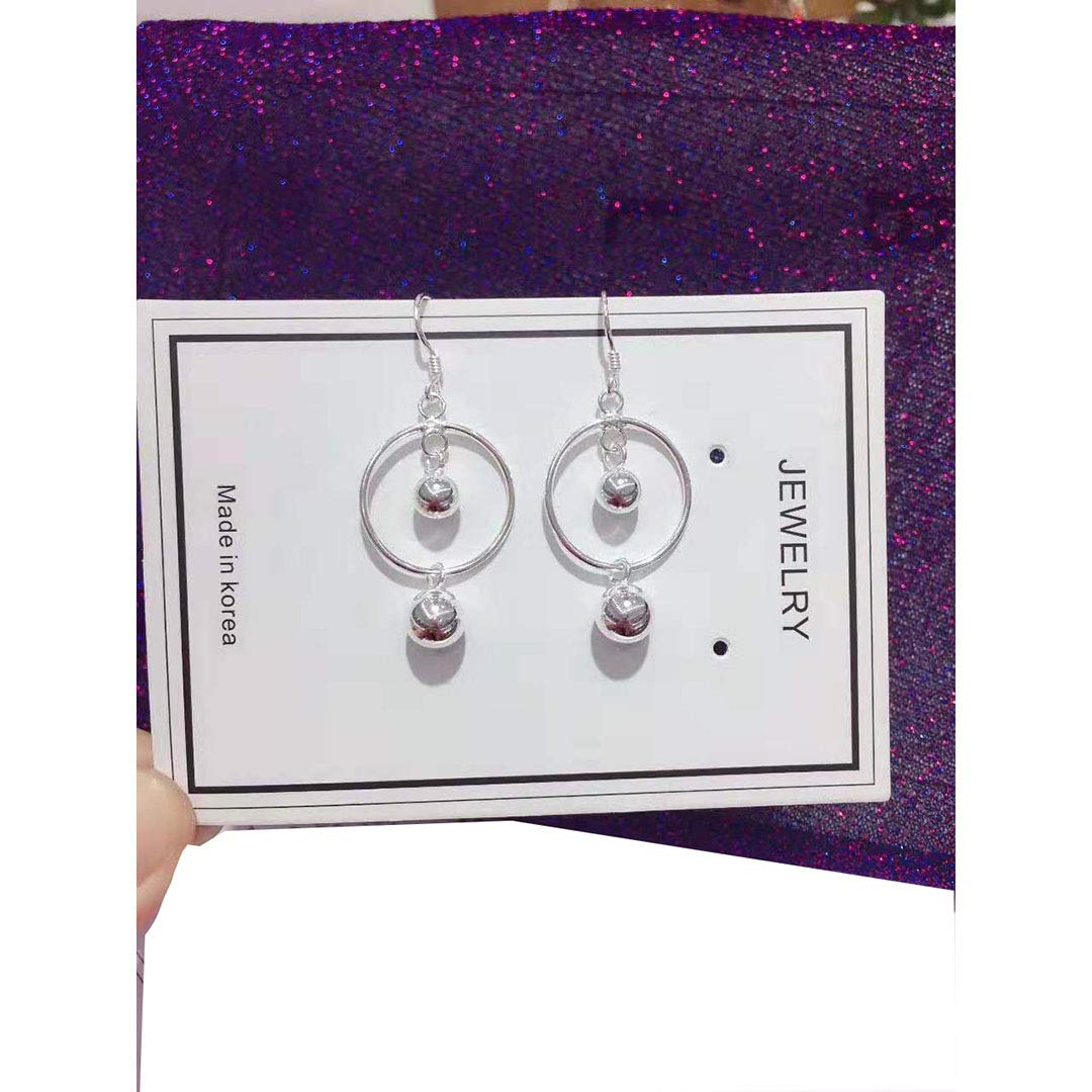 WandT S925 Simple Fashion Earrings Young Lady Girl Birthday