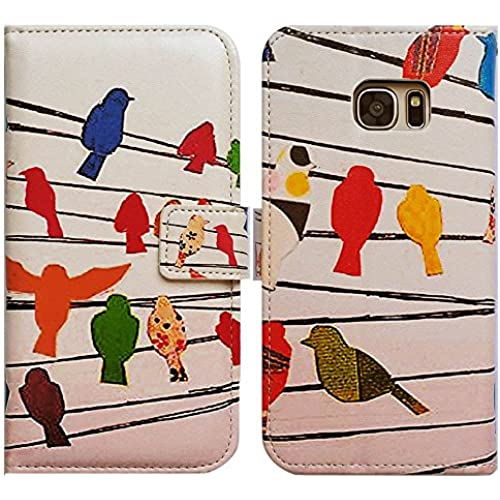 Bfun Packing Bcov Colorful Bird Card Slot Wallet Leather Cover Case For Samsung Galaxy S7 Sales