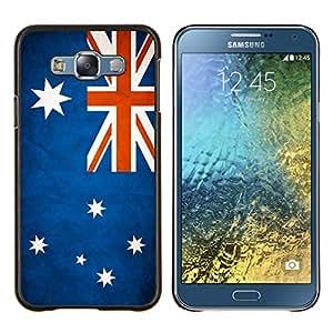 EJOOY---Cubierta de la caja de protección para la piel dura ** Samsung Galaxy E7 E700 ** --Nacional bandera de la nación País Australia