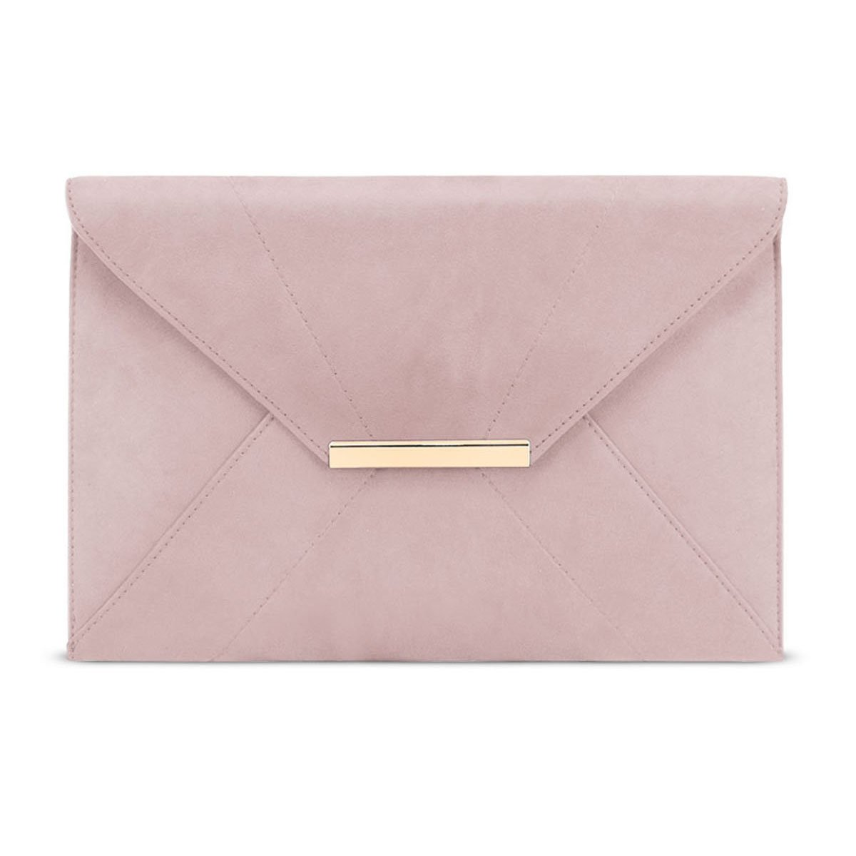 Crossbody Purses for Women,Ladies Envelope Clutch with Removable Chain Strap Wedding Bag Faux Suede Evening Elegant Bag with Pockets Magnet Hook Lightweight Handbag (Pink)