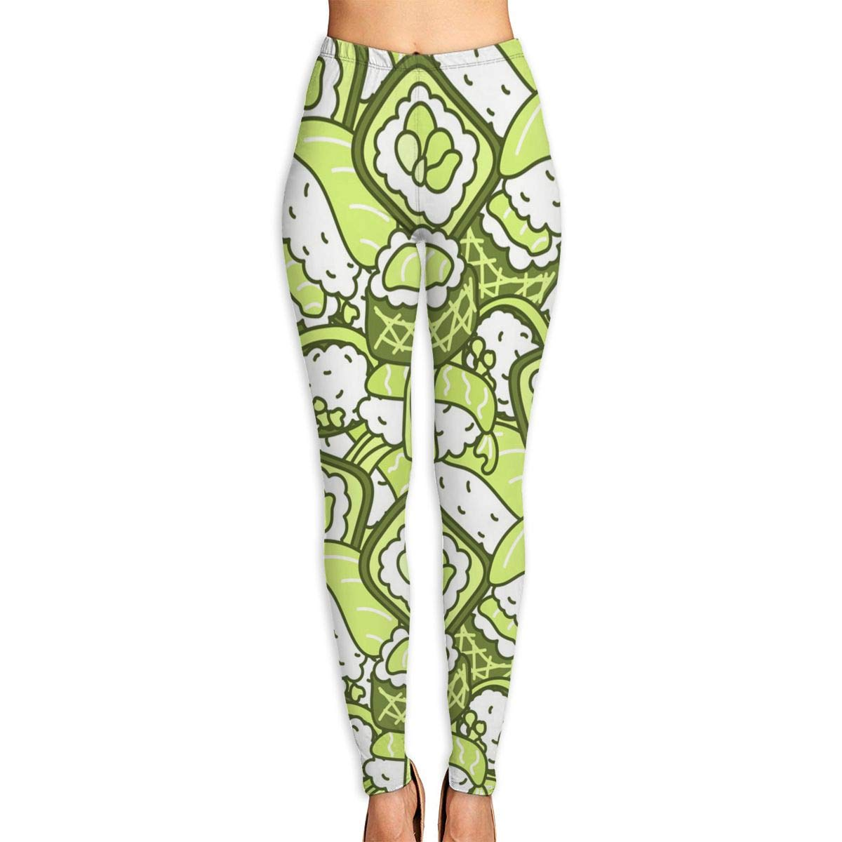 Virgo Sushi Compression Pants//Yoga Pants for Women Drawstring Running Tights