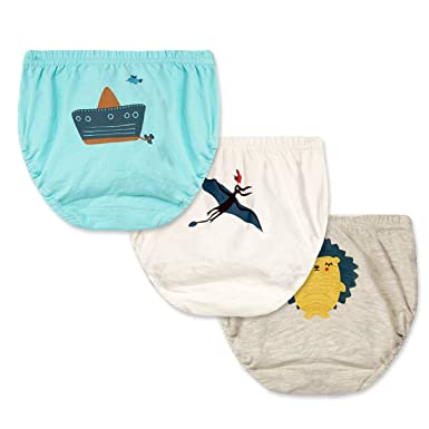 Feidoog Unisex-Baby Toddler Boys and Girls Washable 3 Pack Toilet Training Pants Cute Paints Cotton Underwear Brief
