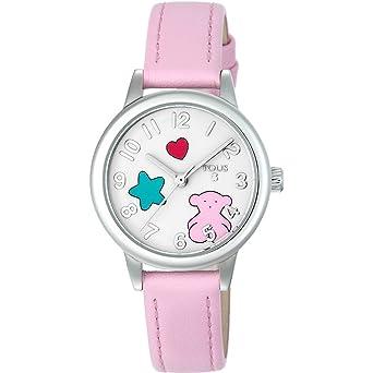 Reloj TOUS Muffin de acero con correa de piel rosa Ref:800350630, Niña: Amazon.es: Relojes