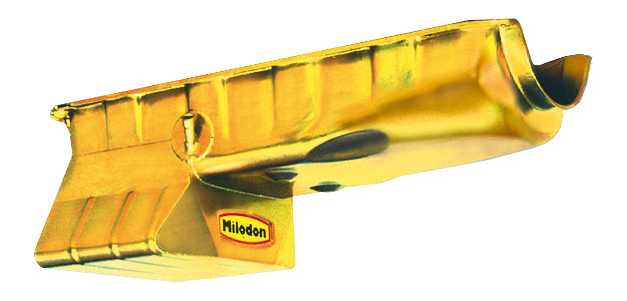Milodon 30970 Steel, Gold Zinc Plated Street and Strip Oil Pan for Big Block Chevy by Milodon
