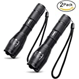 iMiNG Ultra Bright Flashlights Adjustable Focus LED Standard Torches Tactical Handheld Flashlight for Camping Outdoor (2 Pack)