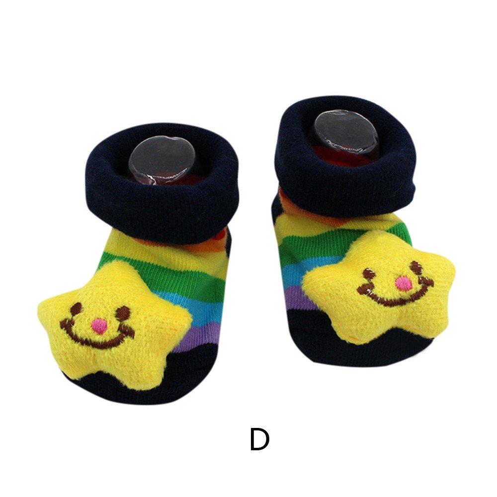 Robemon B/éb/é Enfants Filles Gar/çons Automne Hiver /Épaissi Anti-d/érapantes Dessin Anim/é en Trois Dimensions Poup/ée Plancher Chaussettes 0-24 Mois