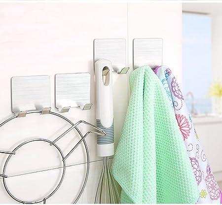 Zuder Double Prong Self Adhesive Multipurpose Stainless Steel Hook, Living Kitchen & bathroom hook. 2 Kg load,