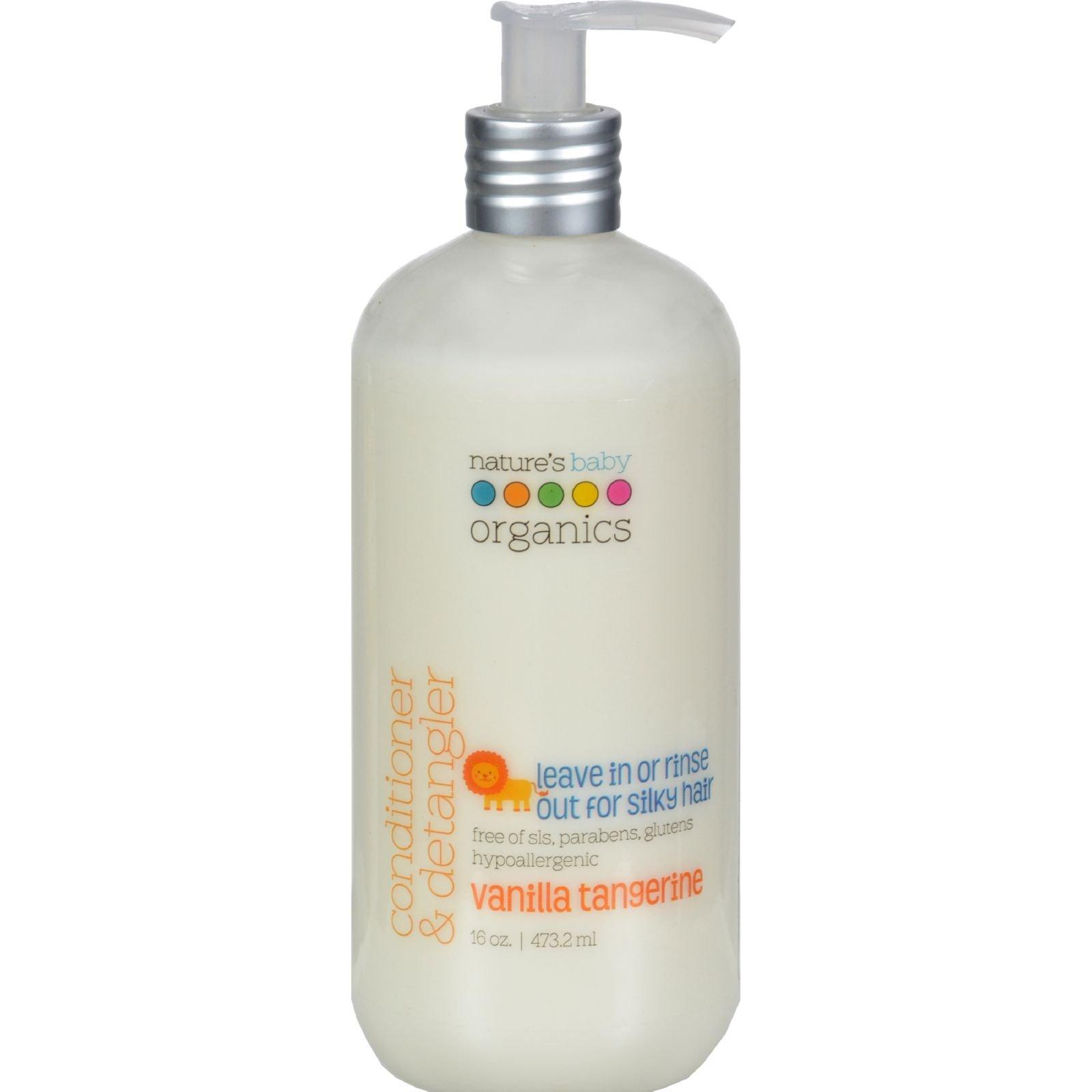 Nature's Baby Organics Conditioner And Detangler Vanilla Tangerine - 16 Fl Oz