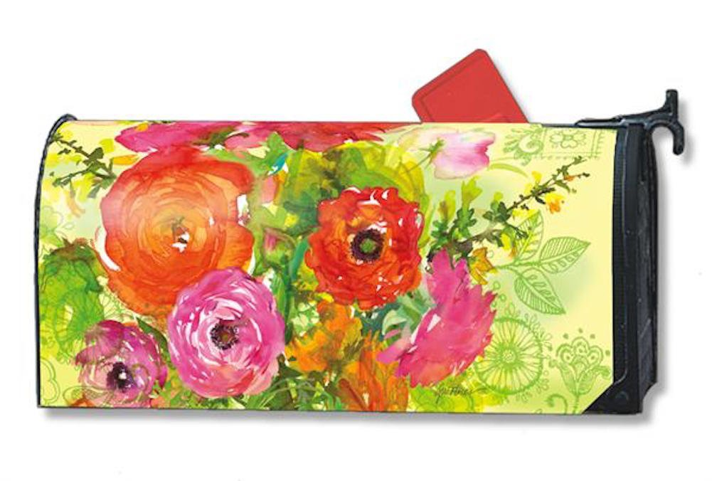 MailWraps Summer Blossoms Mailbox Cover #01076 by MagnetWorks