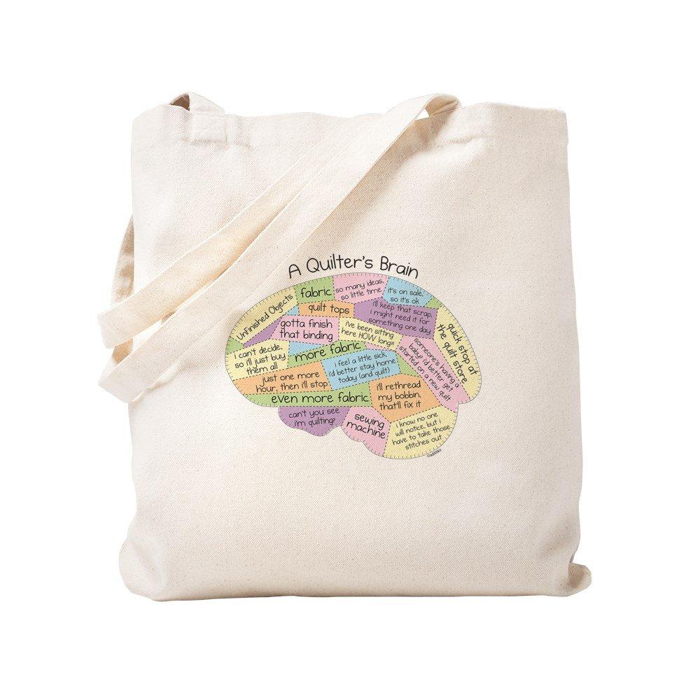 d85eef8e547f2 Amazon.com  CafePress - Quilter s Brain - Natural Canvas Tote Bag ...
