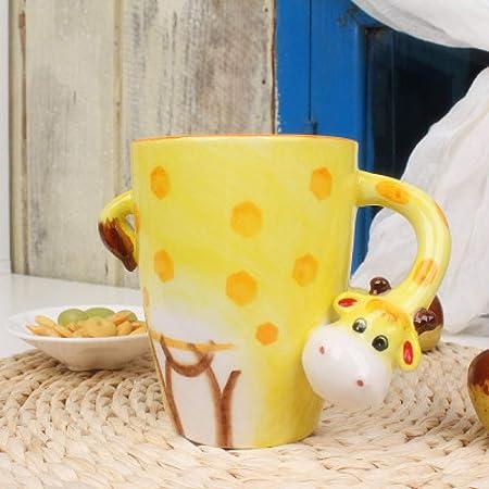 3d creativas pintados cerámica taza vaso vaso café para leche de café