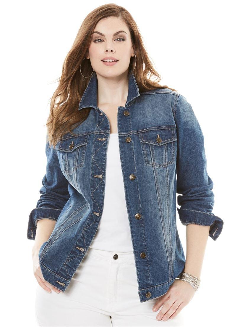 Women's Plus Size Essential Denim Jacket