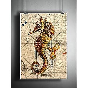 61fuxNr%2BmvL._SS300_ Seahorse Wall Art & Seahorse Wall Decor
