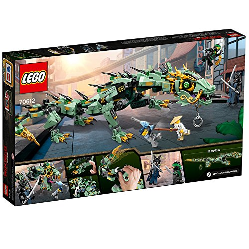 61fuxSLNz%2BL - LEGO Ninjago Movie Green Ninja Mech Dragon 70612 Building Kit (544 Piece)