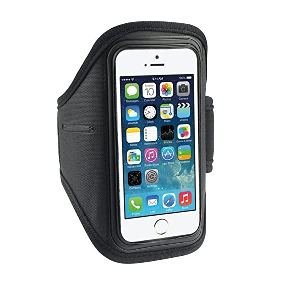 more photos 9acd6 d9e88 iPhone 5 Case,GBSELL Sport Gym Running Arm Band Armband Case For Apple  iPhone 5S 5C 5G 4G 4S ipod Touch 4G (Black)