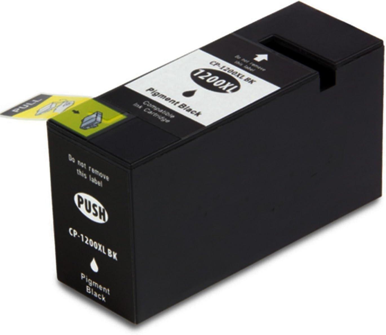 ESTON 5 pk PGI-1200XL B//C//M//Y Ink Cartridge for MAXIFY MB2020 MB2320 w//Chip