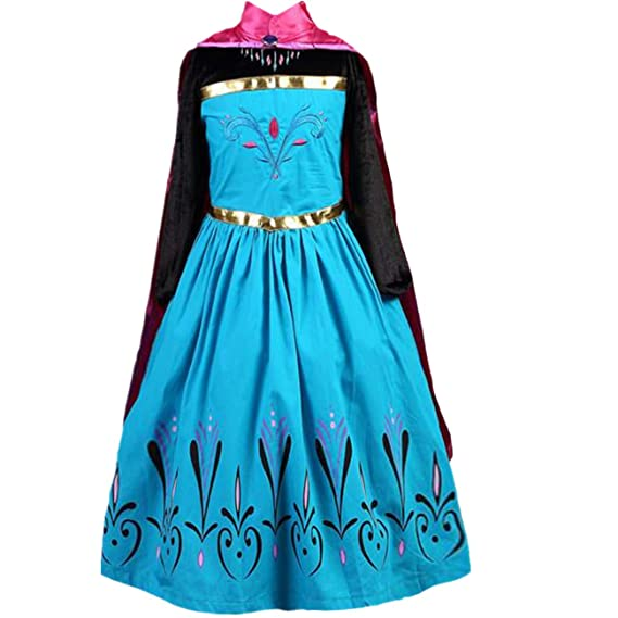 LOBTY Princesa Disfraz Traje Parte Las Niñas Vestido Niña ...