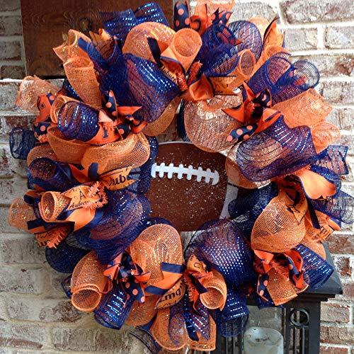 Flora Decor Auburn Tigers Collegiate Wreath - 24'' by Flora Decor (Image #1)