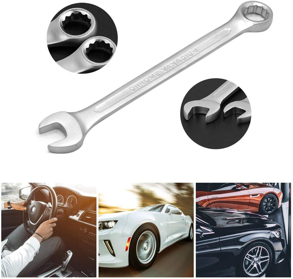 Flexible 6mm-32mm Double Head Spanner Combination Wrench Set of Keys Skate Tool Gear Ring Wrench Repairing Tool