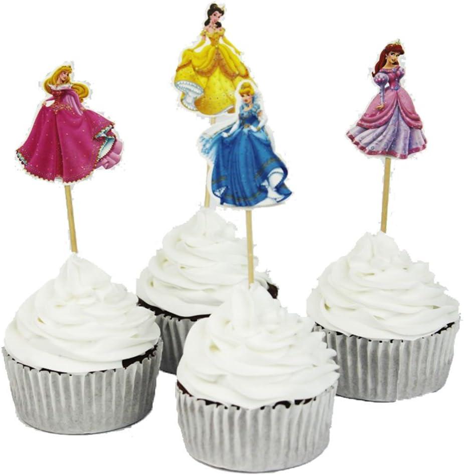 Phenomenal Betop House Set Of 24 Pieces Cinderella Cake Cupcake Decorative Birthday Cards Printable Inklcafe Filternl