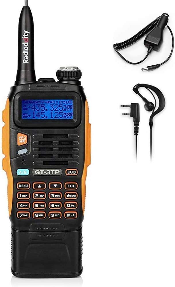 BAOFENG GT-3TP MarkIII 3800mAh Battery Tri-power Ham Radio, Dual Band Two-Way Radio 8W/4W/1W , Upgraded Chip, High Gain Antenna and Car Charger
