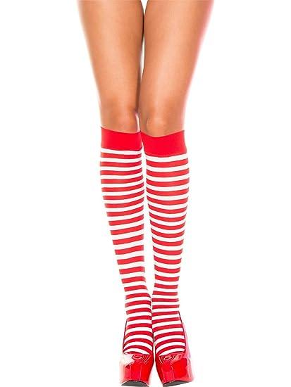1ad1bf94b Amazon.com  Costume Accessory Red and White Striped Socks