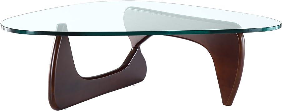 Amazon Com Modway Triangle Coffee Table In Dark Walnut Furniture Decor
