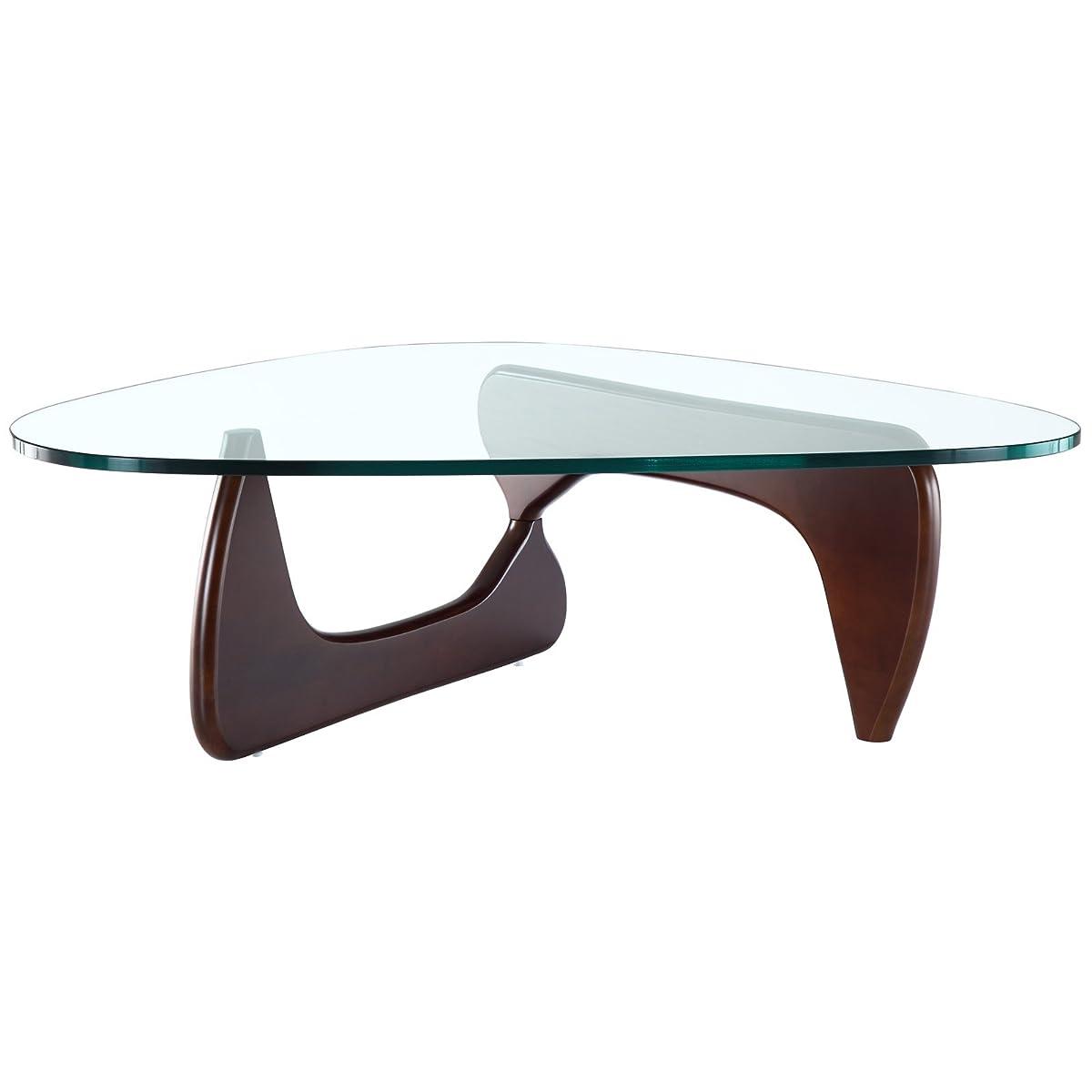 Modway Triangle Coffee Table in Dark Walnut
