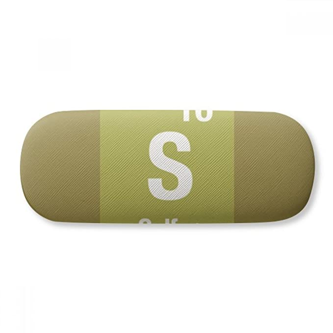 S Sulfur Chemical Element Science Glasses Case Eyeglasses Clam Shell