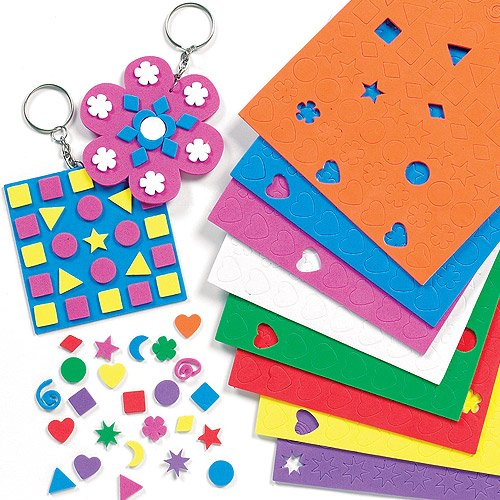 Baker Ross Mini Foam Stickers Value Pack (Pack of 1200) ()