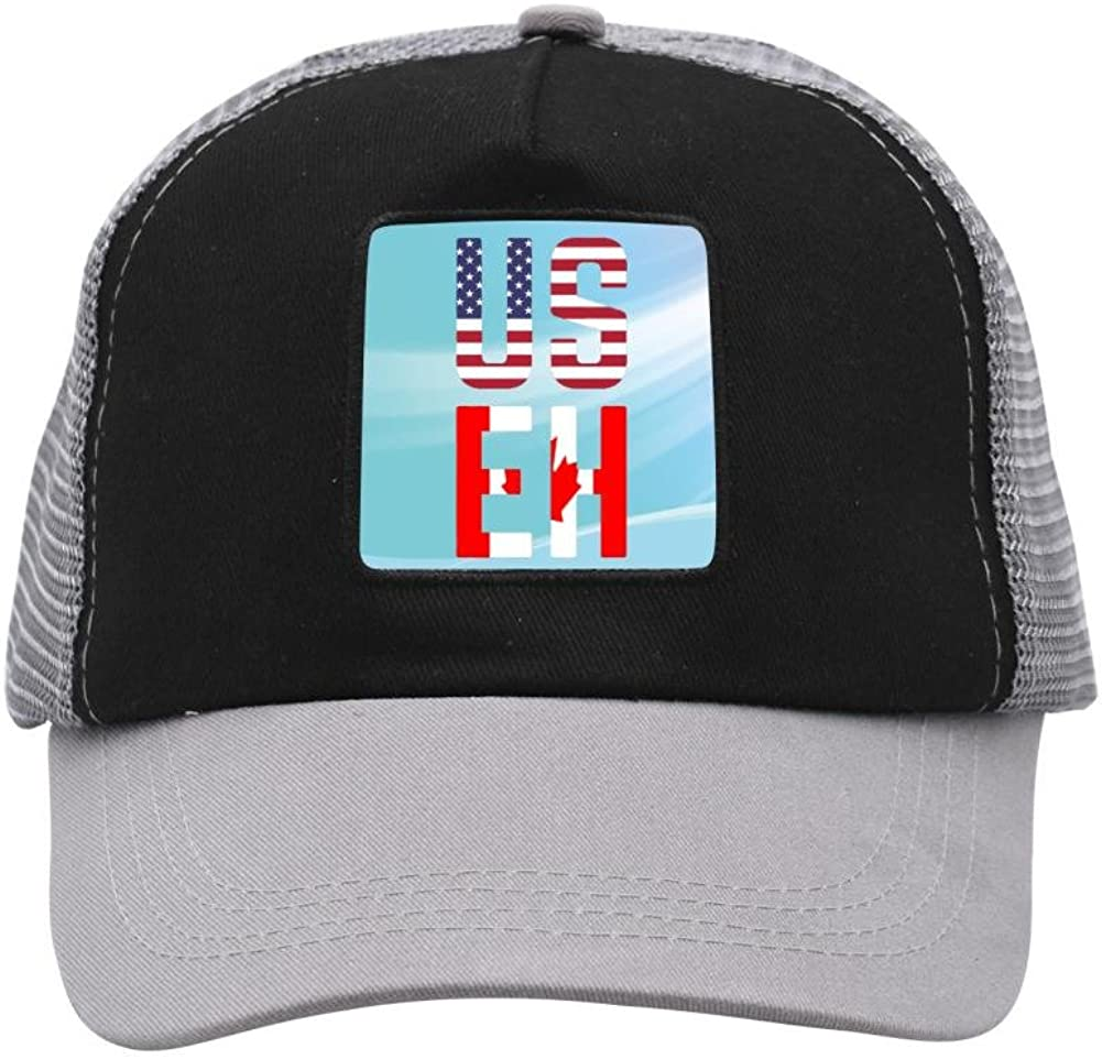 Nichildshoes hat Mesh Caps Hats for Men Women Unisex Print Us Eh Flag