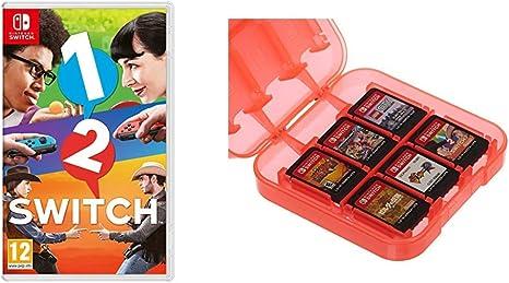 1-2 Switch & AmazonBasics - Funda para almacenamiento de juegos, para Nintendo Switch - Rojo: Amazon.es: Videojuegos