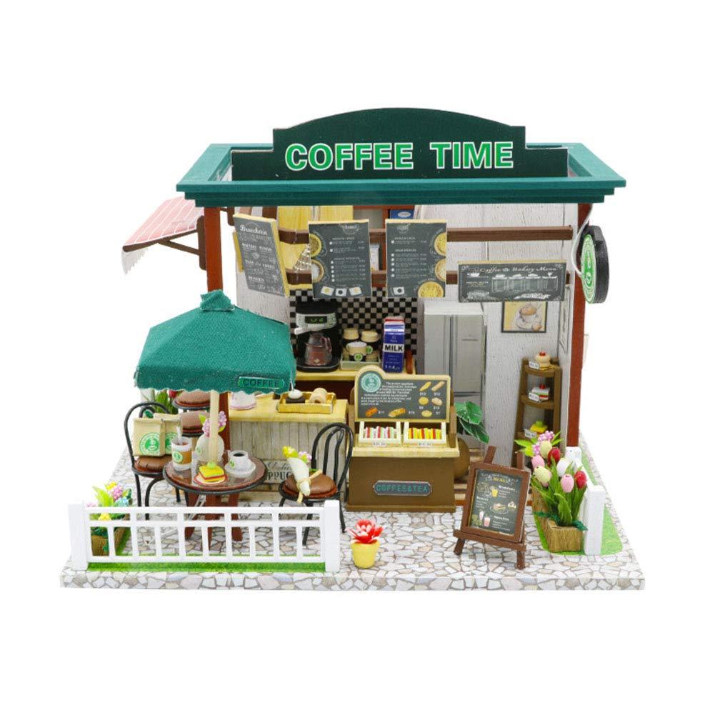 SOSAWEI Casa de muñecas de Bricolaje Mini Kit Hecho a Mano de ...