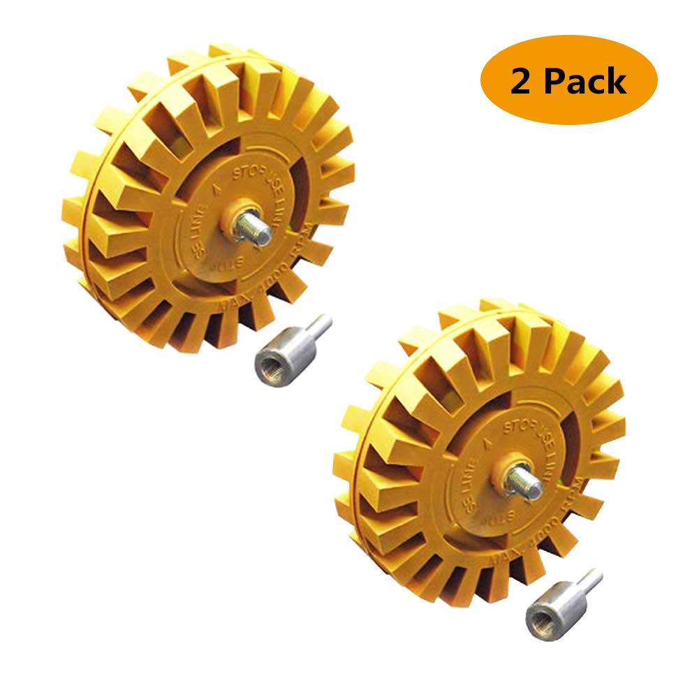 Car Decal Remover Rubber Eraser Wheel Tool Kit Pneumatic Degumming Disc 4 inch Rubber Power Drill Attachment For Removing Pinstripes