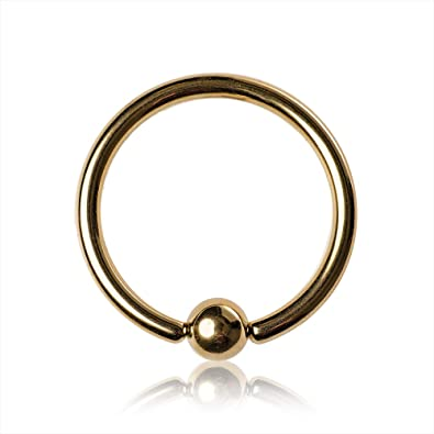 Blue Banana Body Piercing BCR Plasma Gold 2.4mm (Dorado): Amazon.es: Joyería